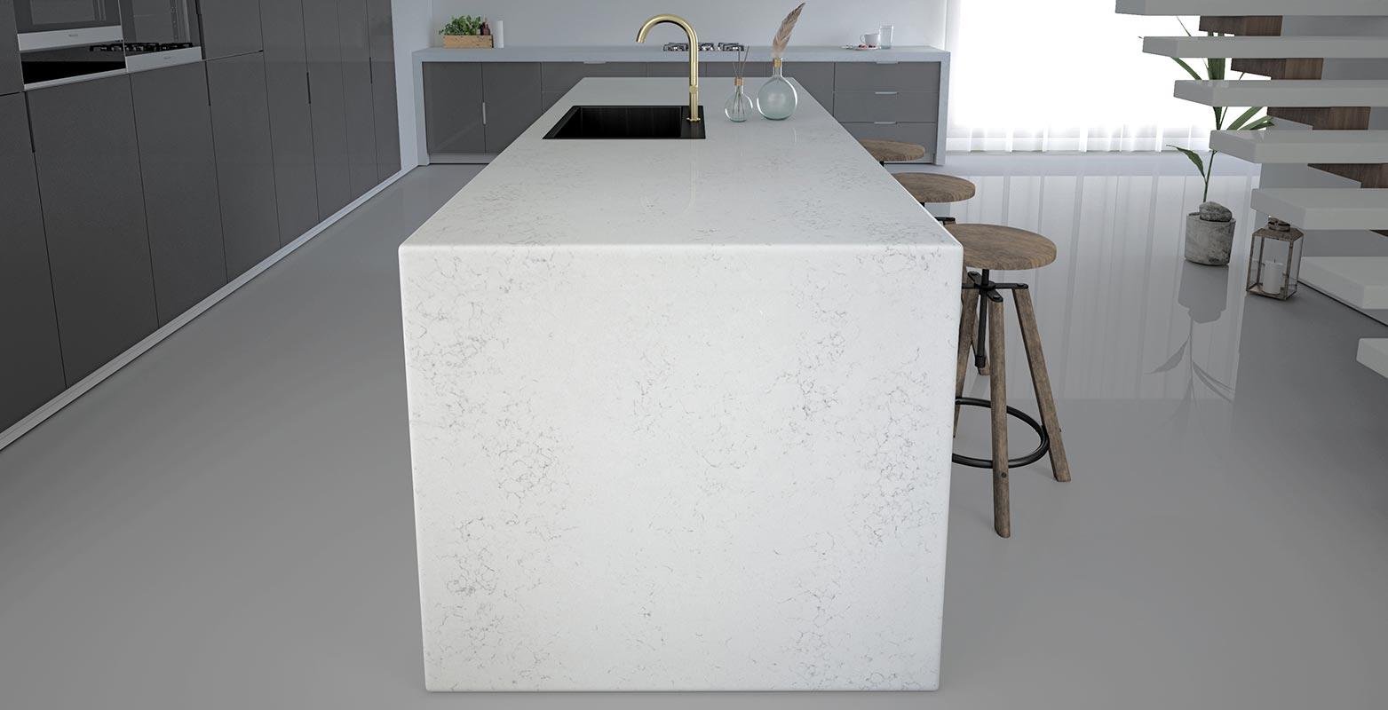 Alpha Quartz - Venato Carrara