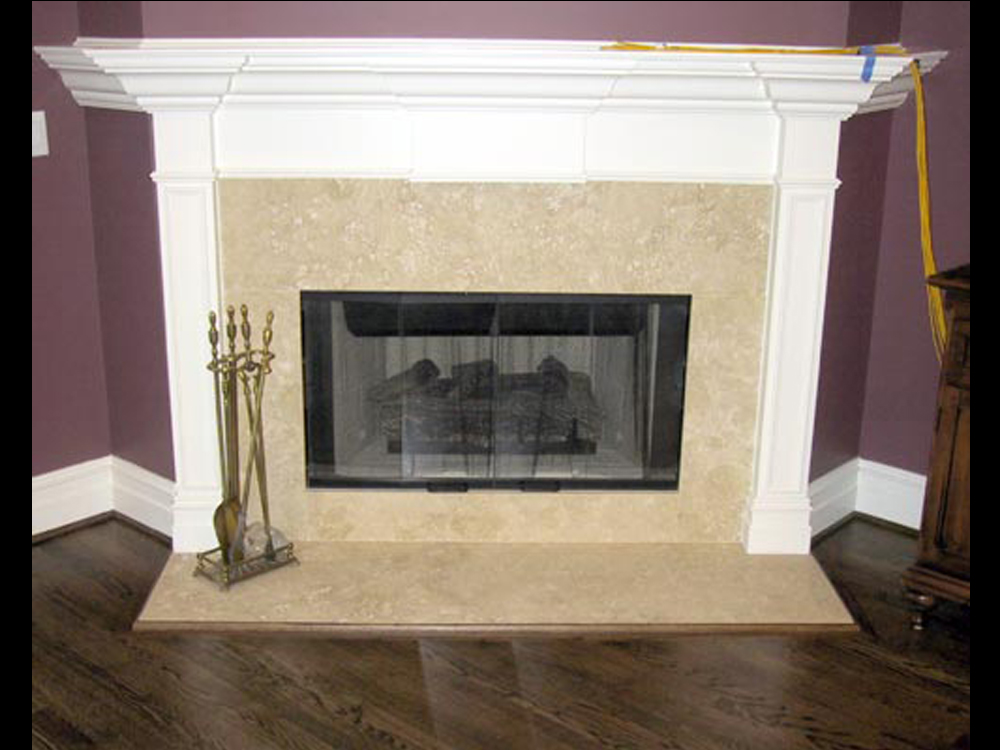 Painted Fireplace Tile Surround
