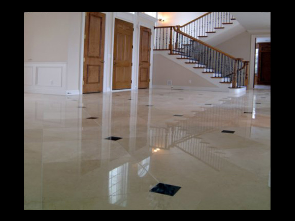 Marble and Granite Bathroom Floors