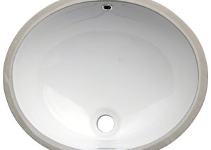 Vanity White Oval Porcelain 1512