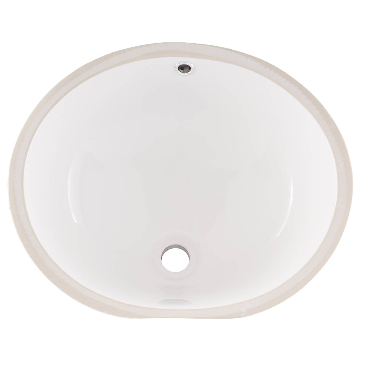 Vanity White Oval Porcelain