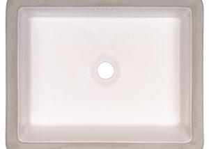 Vanity White Rect Porcelain 2015 Flat