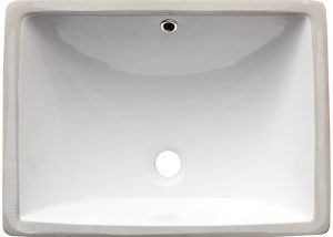 Vanity White Rectangle Porcelain